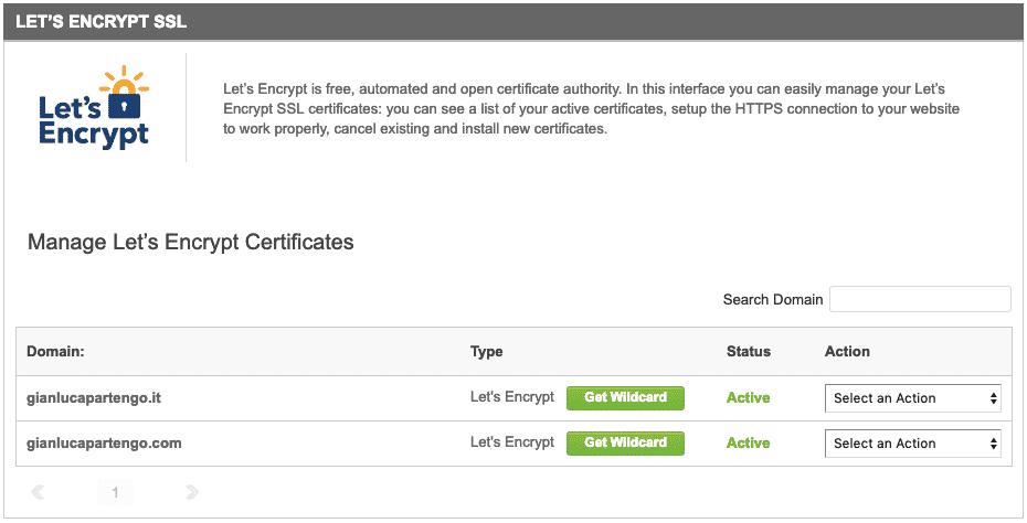 HTTPS, SSL SiteGround Let's Encrypt view