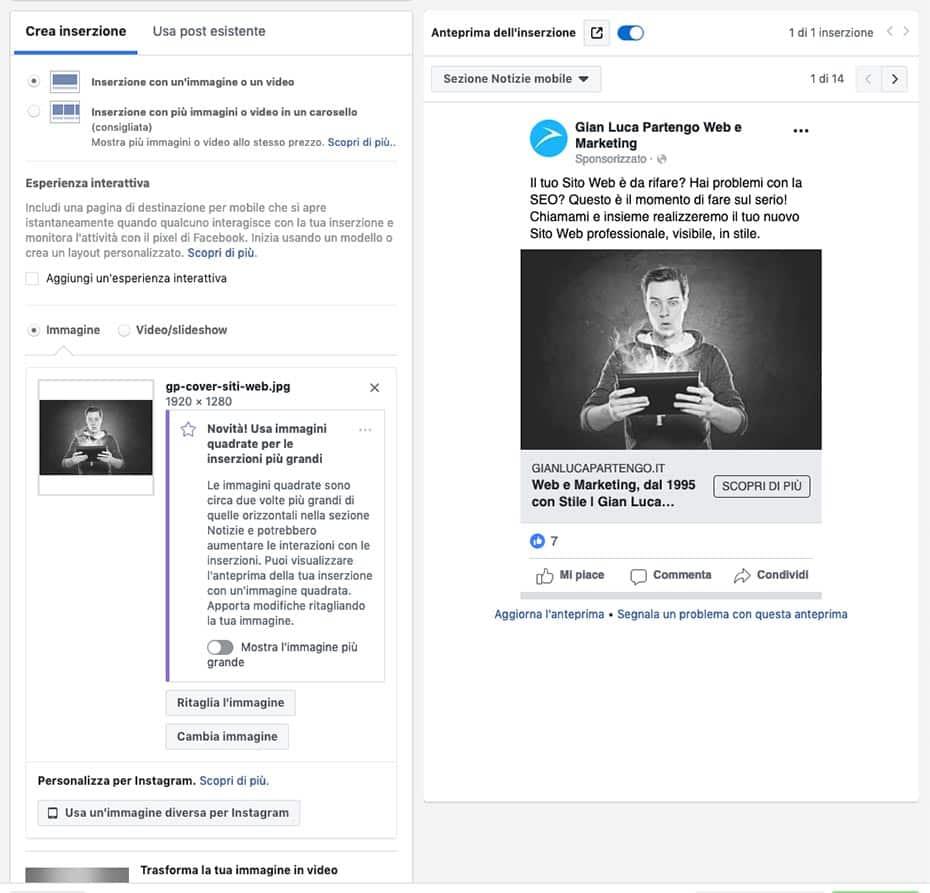 Marketing Digitale | Creatività Facebook