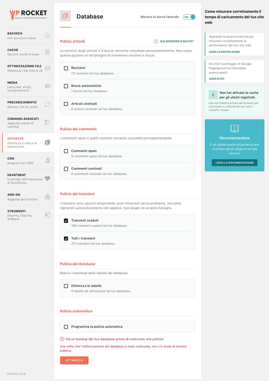 WP Rocket | Database