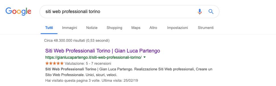 Google   Esempio snippet
