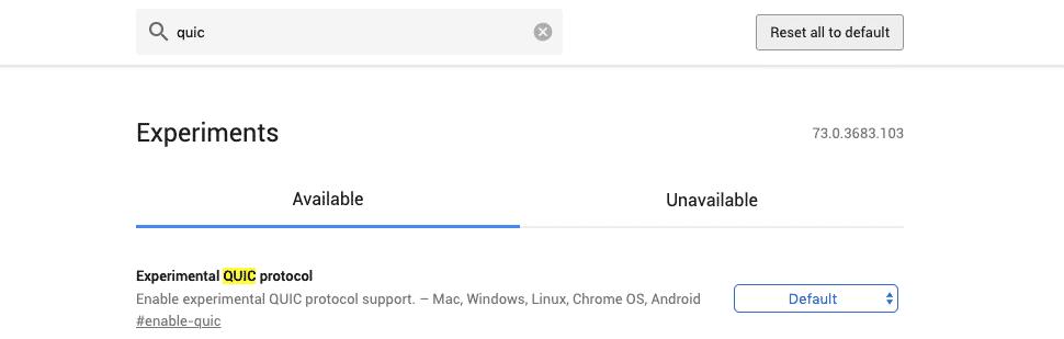 Google QUIC   Verifica supporto HTTP/3 su Chrome e Opera