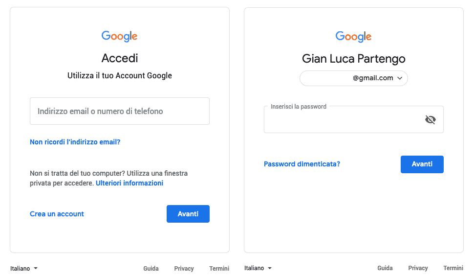 Accesso all Google Search Console