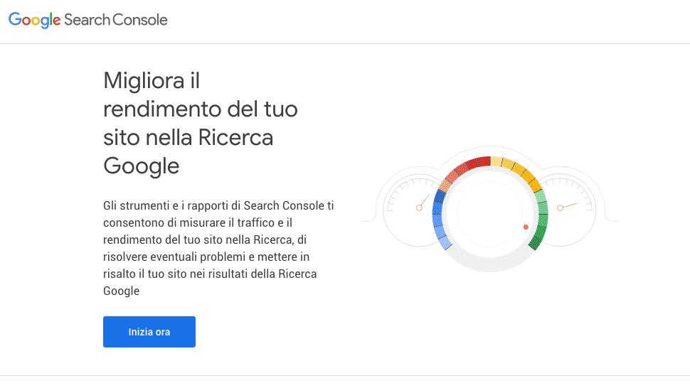 Google Search Console   La schermata di benvenuto dello strumento SEO