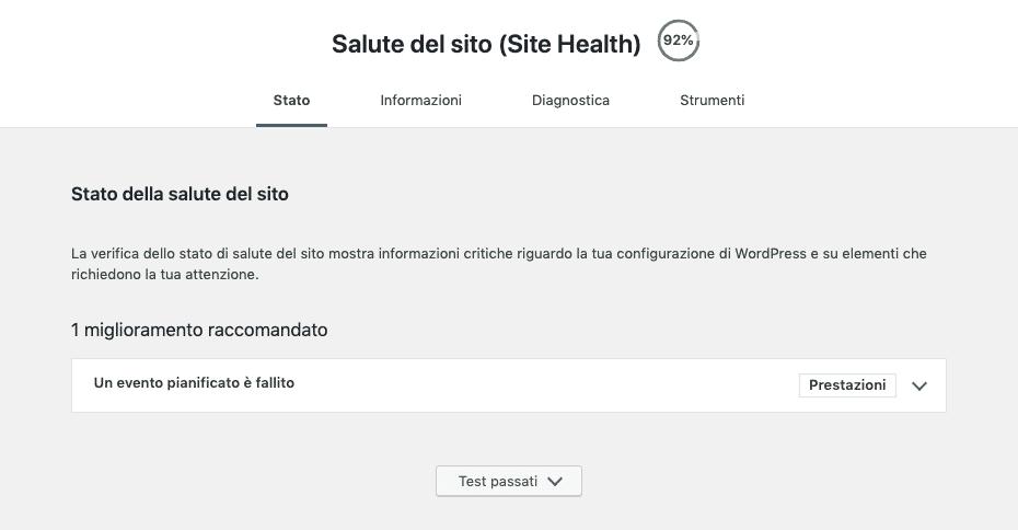 Site Health di WordPress 5.2 | Health Check Menu