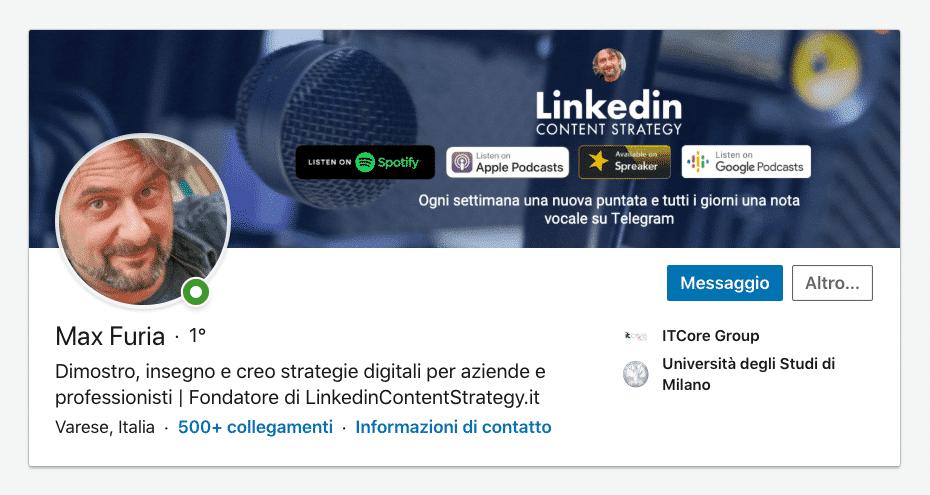 Max Furia | LinkedinContentStrategy.it | Perché usare (anche) Linkedin