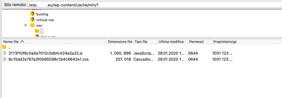 FTP | Controllo cache Sito Web staging | OK