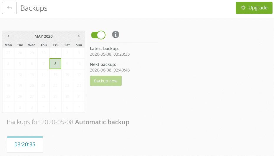 ManageWP | Dashboard addon Backup